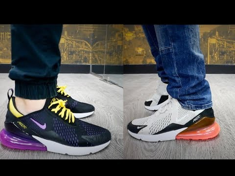 a107c250592 How do these compare to Ultra Boost   Air Max 270 Hyper Grape   Hot Punch  Review   On Feet!!
