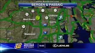 News 12 New Jersey Traffic and Weather 4/14/2014: Pulaski Skyway Closure