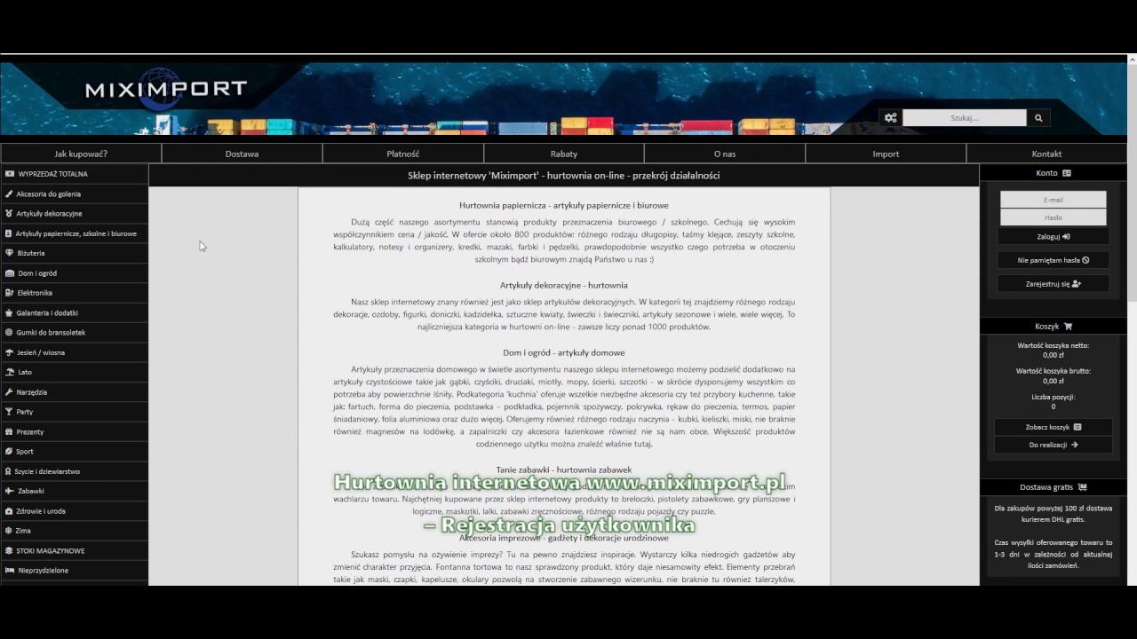 Jak Kupować Sklep Internetowy Hurtownia Miximport