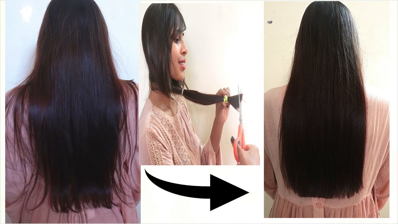 How to Cut STRAIGHT Hairs at HOME  Easy way to TRIM Hairs in 10 Minutes