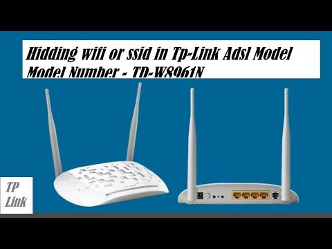 How to Hide  WIFI or SSID in tplink TD-W8961N Adsl Modem !!!
