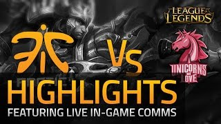 LoL: Fnatic vs UoL Semi-Final Highlights with Voice Comms (LCS EU Summer 2015)