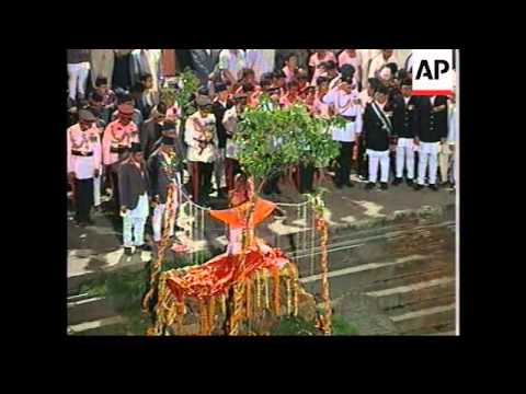 Cremation Ceremony For Slain Nepalese Royal Family (with Sound)