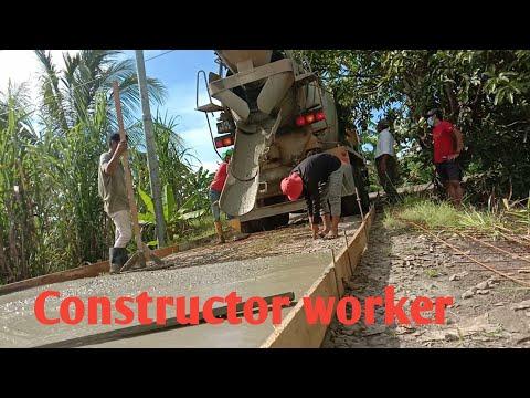 paano gumawa ng maliit na kalsada at pag lagay ng cement