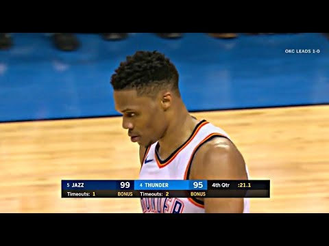 Thunder Big Three Lost Thier Swagger In Jazz Perfect Defense! (Combined 0-14 In 4th Q!)