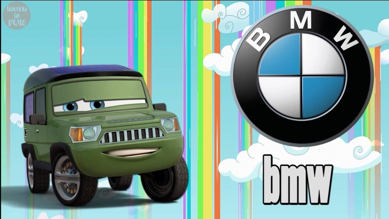 CAR BRANDS LOGOS With CARS Learn CAR BRANDS Names Pronunciation - Cars car names