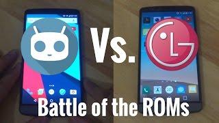 Custom ROM Vs. Stock ROM - CyanogenMod 14.1 Vs LG Stock Marshmallow - LG G3 - Speed Test