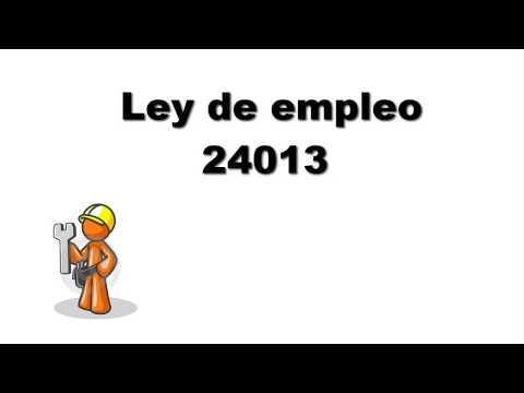 Derecho laboral ( Ley 24013 empleo no registrado)