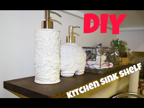 DIY Kitchen Sink Shelf (SUPER EASY) & Terrarium