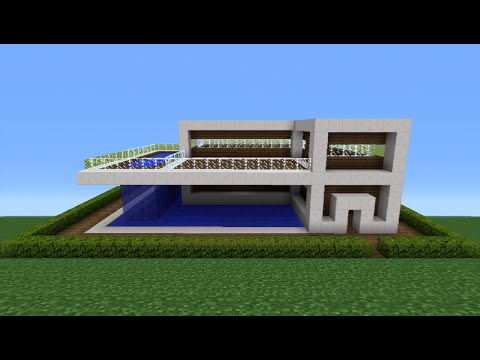 Minecraft Tutorial: How To Make A Quartz House - 11