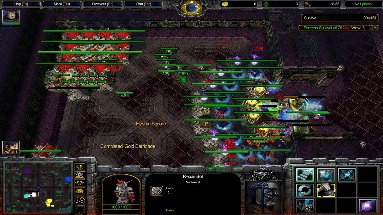 warcraft 3 maps fortress survival