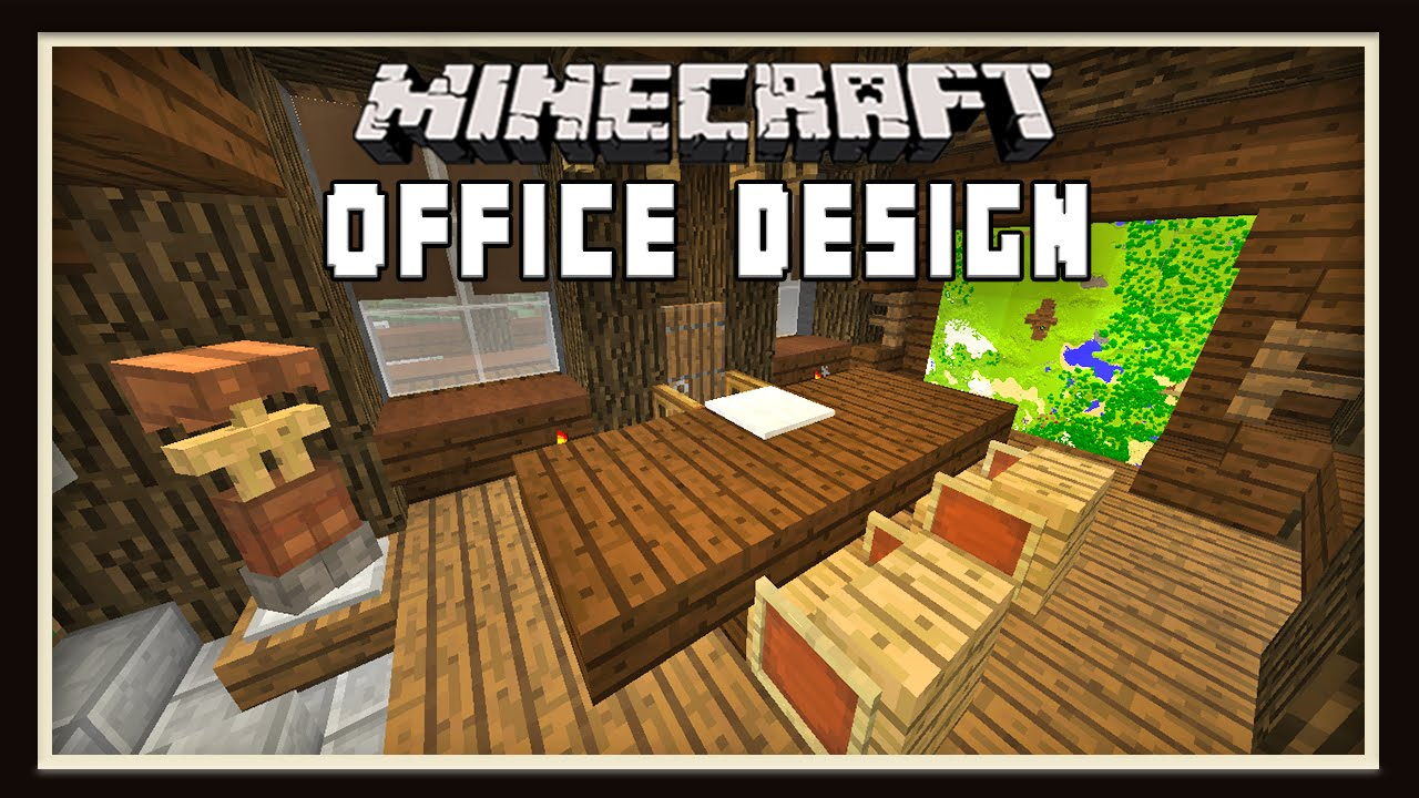 Minecraft: Ranch Office Furniture Design ( How To Build A