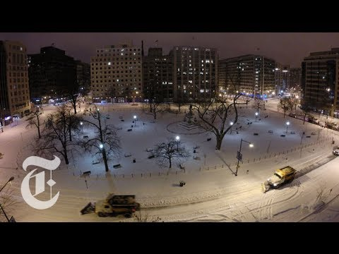 Timelapse Video: Snow Covering Washington, D.C. | 2014 Storm | The New York Times