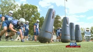 Joe Whelan reports on first day of 2013 football practice for St. Francis Cougars