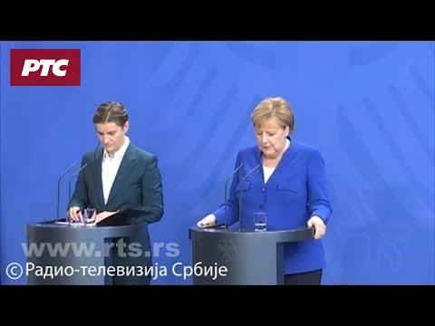 Konferencija za medije Ane Brnabić i Angele Merkel