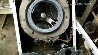 разборка стиральной машины Сименс. Проверяем ТЭН