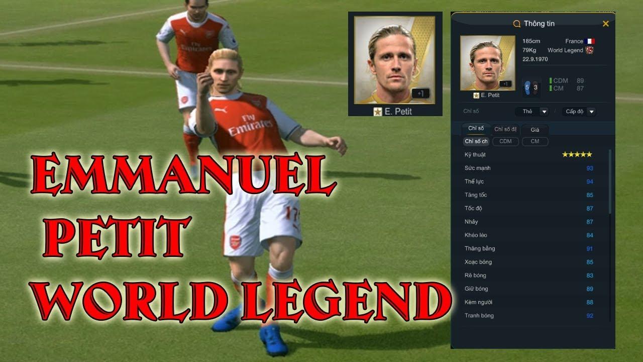 Review Emmanuel Petit World Legend Fifa Online  I Mk Gaming I
