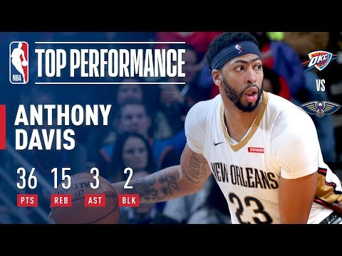 Anthony Davis Puts Up 36 points & 15 Rebounds Against The Thunder!