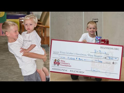 7-Year-Old Boy Raises $700 For Hospital Where Brother Had Surgery