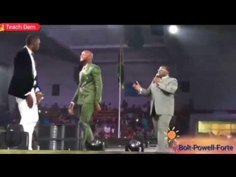 Usain Bolt, Asafa Powell & Julian Forte, #DanceOff @ Rio Athletes Reception
