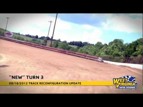 West Virginia Motor Speedway 08/18/2012 Track Reconfiguration Update