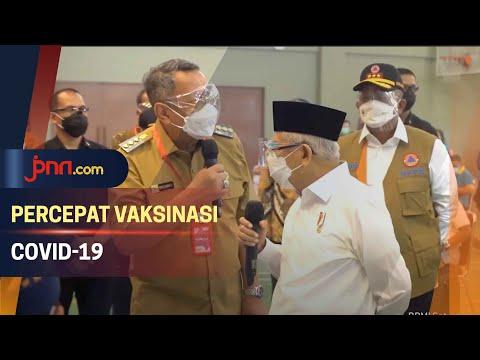 Wapres Ma'ruf Amin Meninjau Langsung Vaksinasi Covid-19 di Tangsel