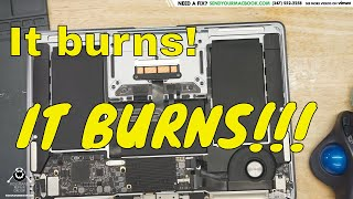 The sound of a suffering Macbook Air CPU with no heatpipe 😢