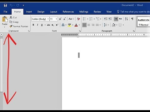 How to Change MS Word Scroll Bar Left to Right / Right to Left