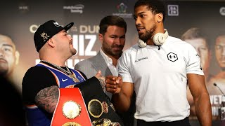 Watch again: Anthony Joshua vs. Andy Ruiz Jr. weigh-in for heavyweight title fight in Saudi Arabia