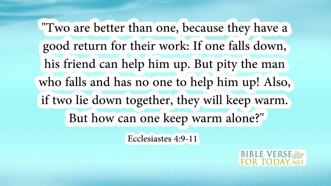 Quotes About Friendship And Forgiveness Bible Verse About Friendship Ecclesiastes 4911  Bible Verses