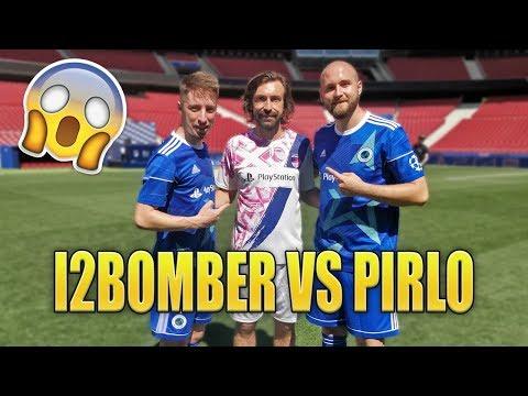 I2BOMBER VS PIRLO - IN REAL MATCH con i CAMPIONI DEL CALCIO