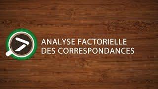 #15 Analyse Factorielle des Correspondances dans Excel avec XLSTAT