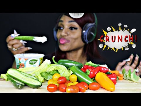 ASMR Crunchy Veggies NO TALKING Extreme Crunch