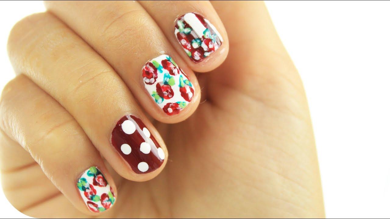 HOW TO: Blumen Nagel Design   Sanny Kaur - YouTube