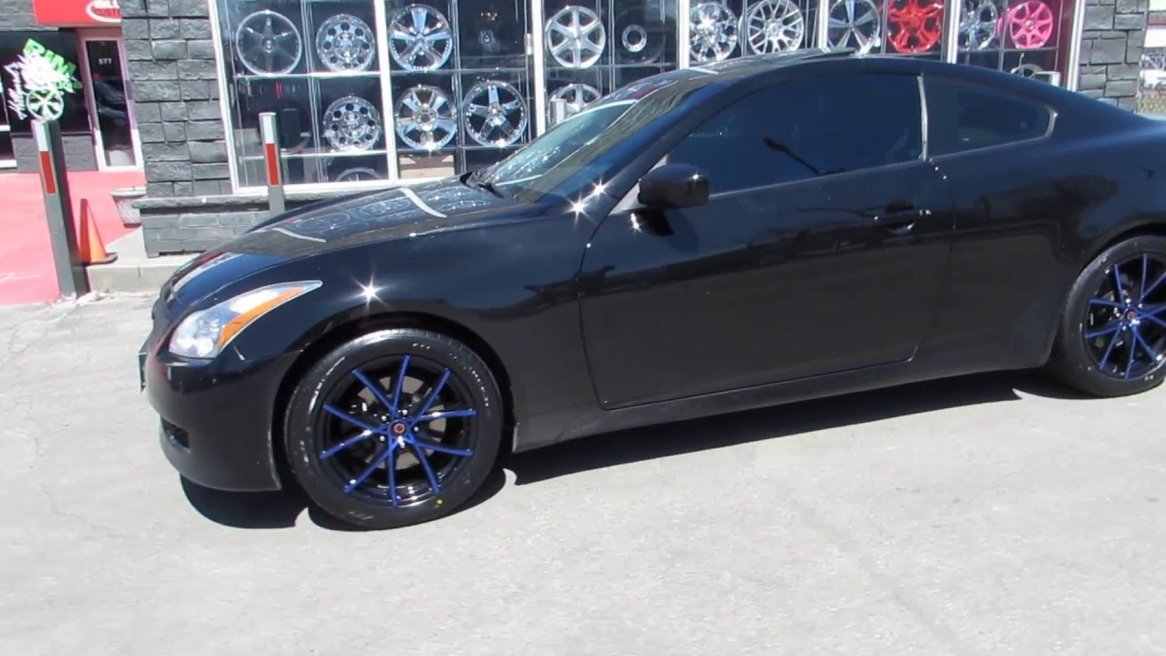 2009 infiniti g37 x riding on custom 18 inch black blue rims 2009 infiniti g37 x riding on custom 18 inch black blue rims bridgeston potenza tires vanachro Choice Image