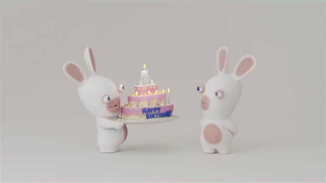 Anniversaire lapins cr tins youtube - Lapin cretin image ...