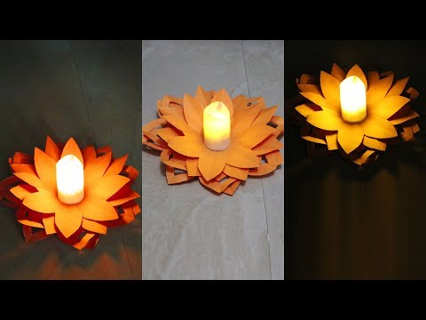 Diwali Paper Diya Decoration ideas | Diwali Special Decoration | Easy Paper Diya for Diwali