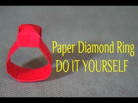 DIY; Diamond Shape💎 Paper Finger Ring💍।