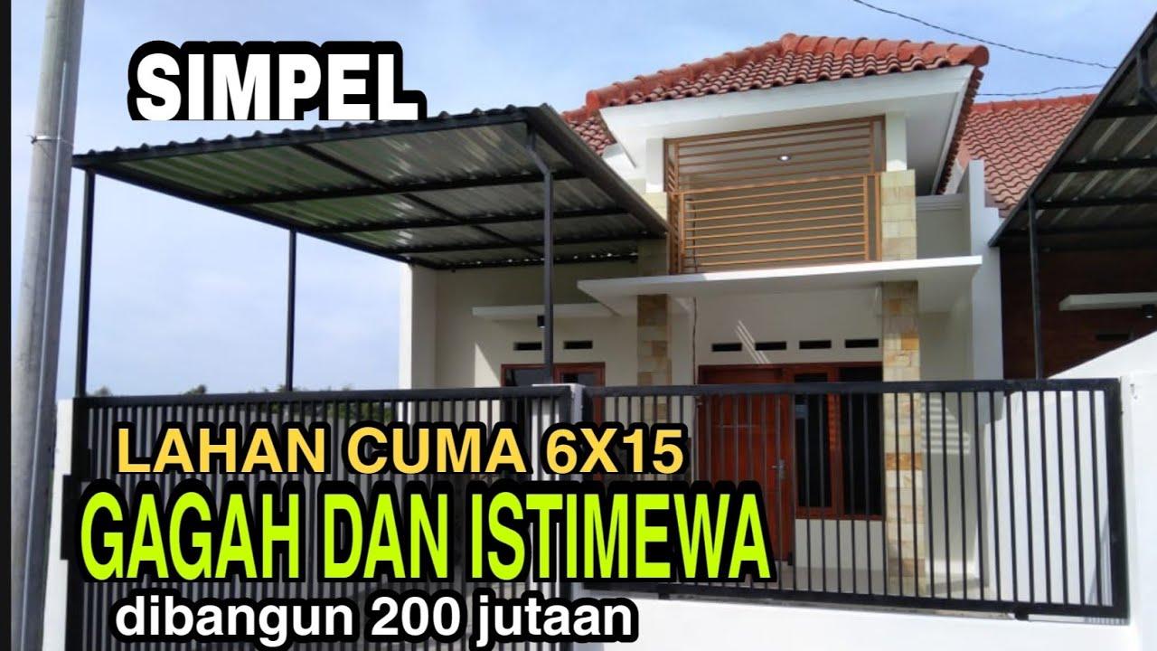 REVIEW LENGKAP LAHAN 6X15, RUMAH MINIMALIS LINMAS SANGAT GAGAH - YouTube