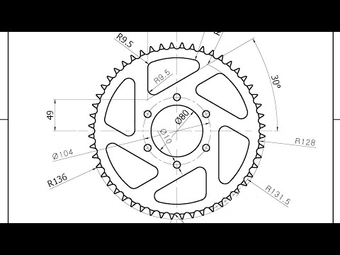 Autocad 2D Gear Practice, Download or watch Y2mate