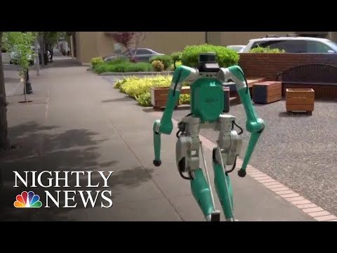 Is This Package-Carrying Robot The Future Of Home Deliveries? | NBC Nightly News