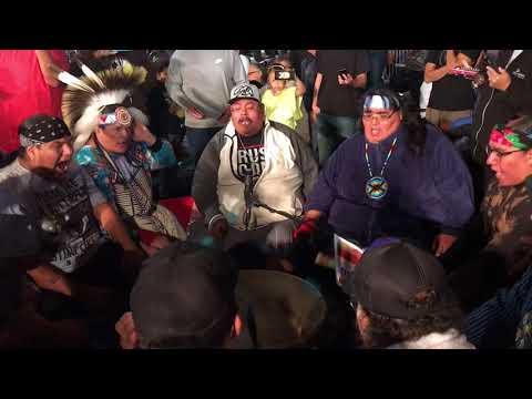 Mystic River Singers at Hunting Moon Powwow 2017