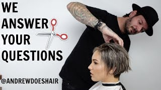 HAIRCUT SESSION  with ANDREW DOES HAIR || part 1