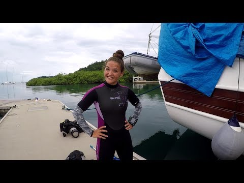 Our First Scuba Job And A Dinghy Rescue (DJs Dives)
