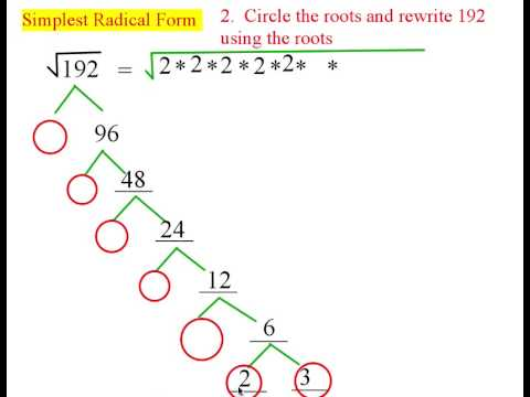Simplest radical form youtube for Square root of 1089