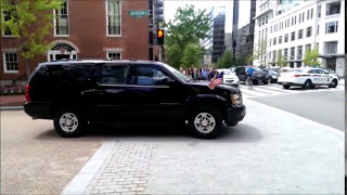 Angela Merkel Motorcade Leaving The White House
