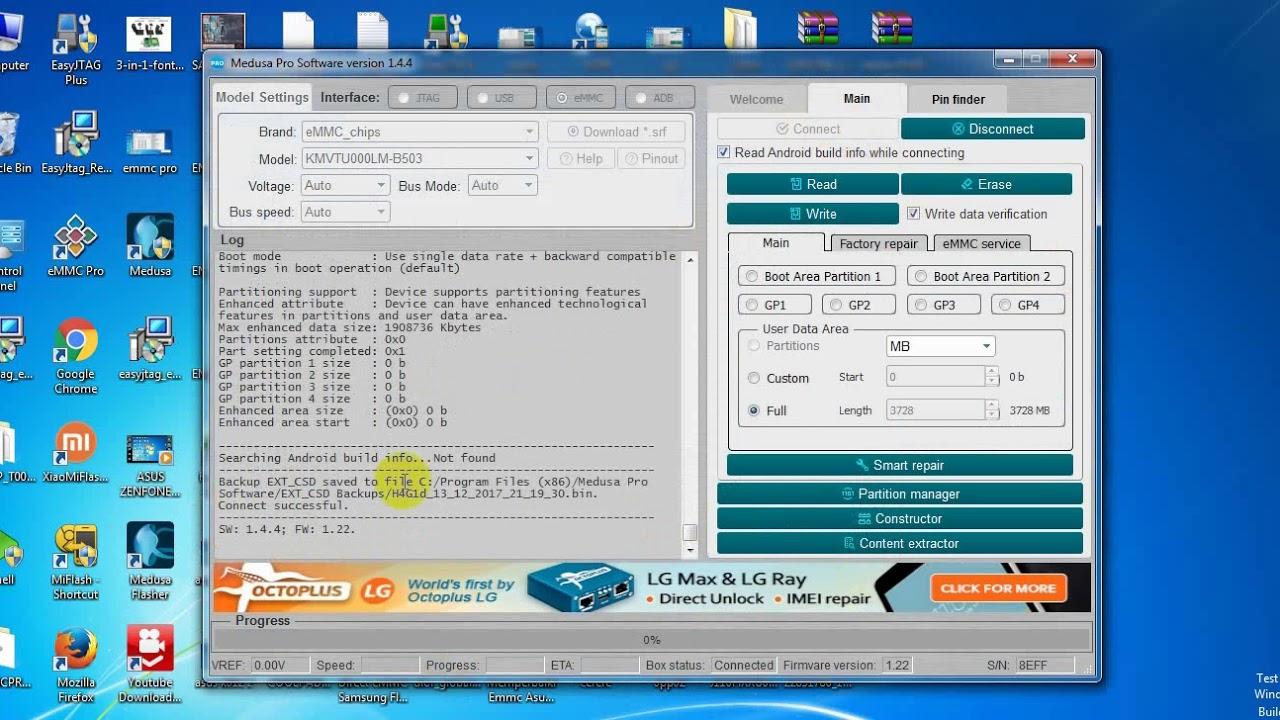 Medusa Pro II Read/Write eMMC working test