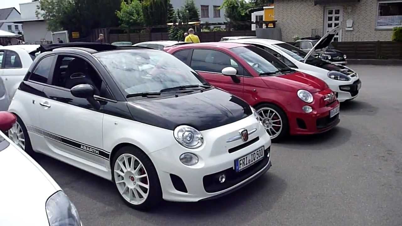abarth treffen bei k ster motorsport mit g tech teil 1. Black Bedroom Furniture Sets. Home Design Ideas