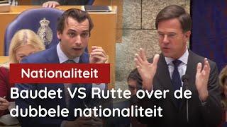 Baudet vs Rutte (VVD) over de Dubbele Nationaliteit