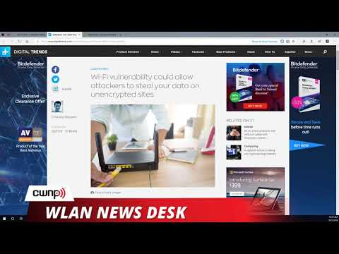 WLAN News Desk - September 21 2018 - TCP Attack on Wi-Fi and NETSCOUT divestiture